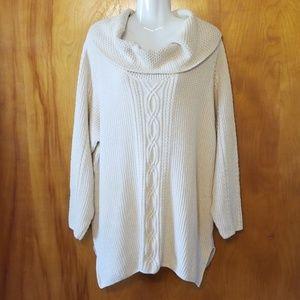 Jeanne Pierre Woman Chunky Sweater, Cowl neck, 2X